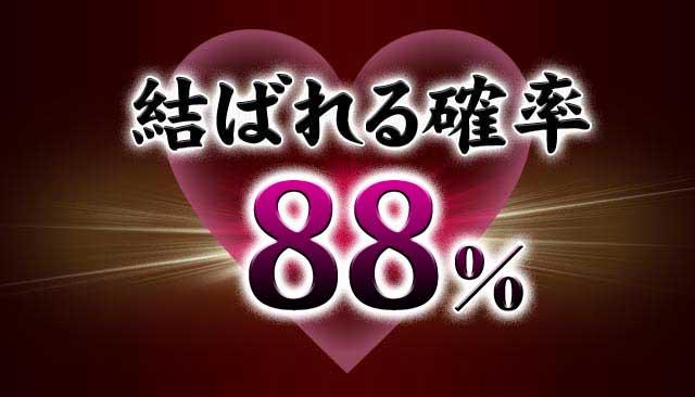 結ばれる確率88%