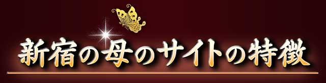 新宿の母のサイトの特徴
